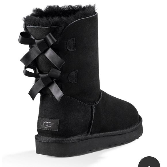 UGG Shoes | Black Bailey Ribbon Uggs